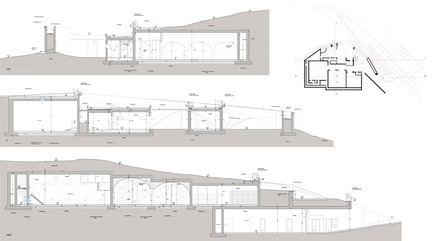 Press kit | 2219-01 - Press release | Winery in Chianti - IB Studio _ Arch. Invernizzi & Bonzanigo - Commercial Architecture - sections - Photo credit: IB Studio _ Arch. Invernizzi & Bonzanigo