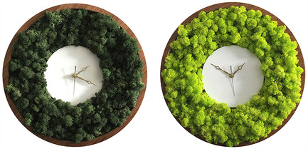 Press kit | 2141-01 - Press release | Objetik: An Online Space for Quebec Design - Objetik - Industrial Design - Lichen Clock - Photo credit: Anastrophe