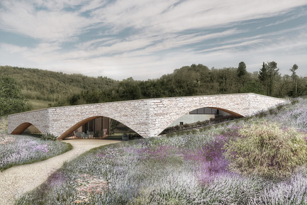 Press kit | 2219-01 - Press release | Winery in Chianti - IB Studio _ Arch. Invernizzi & Bonzanigo - Commercial Architecture - arched wall - Photo credit: IB Studio _ Arch. Invernizzi & Bonzanigo