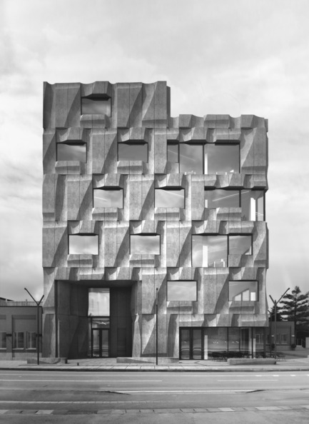 Press kit | 2045-01 - Press release | Batay-Csorba Architects Reimagines the Precast Concrete Building in Toronto - Batay-Csorba Architects - Commercial Architecture - Front Elevation - Photo credit: Batay-Csorba Architects