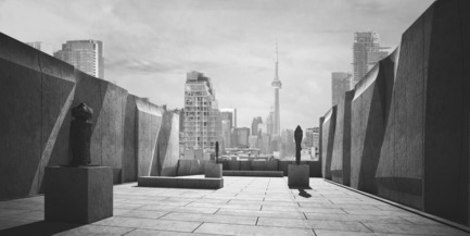 Press kit | 2045-01 - Press release | Batay-Csorba Architects Reimagines the Precast Concrete Building in Toronto - Batay-Csorba Architects - Commercial Architecture - Roof Top Sculpture Garden - Photo credit: Batay-Csorba Architects