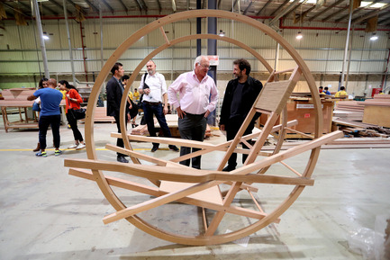 Press kit | 1834-12 - Press release | Design Days Dubai 2017: International Design Talent, Premieres and Special Projects bring design to life - Design Days Dubai - Event + Exhibition -  Pivot Chair designed by Fadi Sarieddine  - Photo credit:  Image Courtesy of American Hardwood Export Council