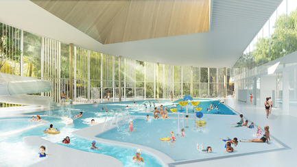Press kit | 752-04 - Press release | NFOE/ HCMA Awarded Complexe Aquatique de Laval - NFOE/ HCMA consortium - Institutional Architecture - Interior view - Photo credit: City of Laval