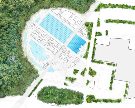 Press kit | 752-04 - Press release | NFOE/ HCMA Awarded Complexe Aquatique de Laval - NFOE/ HCMA consortium - Institutional Architecture - Ground floor - Photo credit: City of Laval