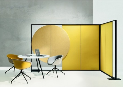 Press kit | 1124-13 - Press release | World Interiors News Awards Ceremony 2016 - World Interiors News - Commercial Interior Design - JOINT WINNER: FURNITURE<br>Parentesit by Arper<br><br>Designed by Lievore Altherr Molina, Parentesit is an acoustic wall module that reduces extraneous background noise and creates a space for concentration, offering comfort for contemporary shared spaces. The bold, graphic forms are available in three shapes that can be further customised with the addition of a speaker or ambient light.<br><br>JUDGES' COMMENT<br>'I think this is an example of where designers have looked at the problem, taken it back to first principals, worked through and come up with something that is attractive, original and flexible.' - Photo credit: Arper