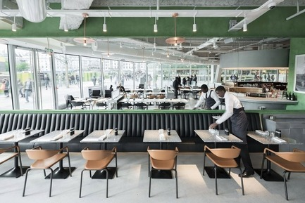 Dossier de presse | 2276-03 - Communiqué de presse | ArchiDesignclub Awards 2017 - ArchiDesignclub by Muuuz - Architecture institutionnelle - Lauréat dans la catégorie Intérieur / Restaurant : Brasserie Champeaux Alain Ducasse, Paris (75) - Ciguë - Crédit photo : Maris Mezulis