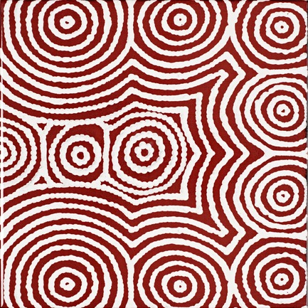 Press kit | 2399-01 - Press release | My Country: Design With Origin - Bay Gallery Home - Industrial Design - Bay Gallery Home, My Country Bush Onion 2 ceramic wall tile, end tile design. From an original Australian Aboriginal artwork. - Photo credit: Bay Gallery Home