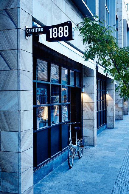 Press kit | 2395-01 - Press release | TomMarkHenry's Award-winning Design for 1888 Certified - TomMarkHenry - Commercial Interior Design - 1888 Certified designed by TomMarkHenry - Photo credit: Damian Bennett