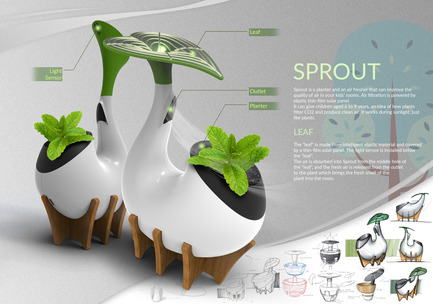 Press kit | 2493-01 - Press release | Sprout - SHIYU GUO - Industrial Design -  Description  - Photo credit:  Raymond (Shiyu Guo)