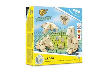 Press kit | 2450-01 - Press release | DOCKLETS - Innovative Hook and Loop Toy Bricks for Agile 3D Constructions - TPPD / Thade Precht Playful Design - Product - DOCKLETS Universal Set - Photo credit: TPPD / Thade Precht Playful Design