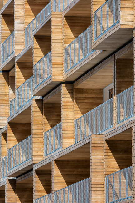 Press kit | 2388-01 - Press release | LESS - Urban amplifier - AAVP ARCHITECTURE - Residential Architecture - Facade and balconies details  - Photo credit:  © Pierre L'Excellent