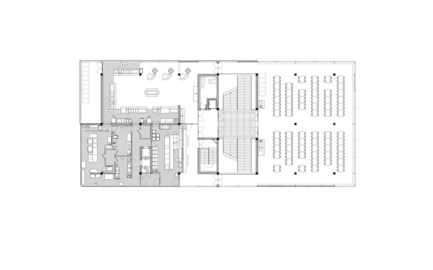 Press kit | 2469-01 - Press release | Public Condenser - Muoto Architects - Institutional Architecture - First Floor Plan - Photo credit: MUOTO