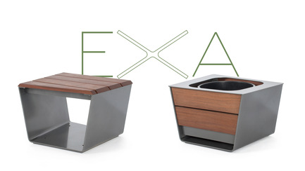 Press kit | 821-03 - Press release | The EXA Collection: An Outside-the-Box Approach to the Modular Cube - Equiparc / Marc Boudreau Designer - Product - Bench EP 1051 <br>Planter EP 4050  - Photo credit: Equiparc