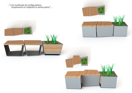 Press kit | 821-03 - Press release | The EXA Collection: An Outside-the-Box Approach to the Modular Cube - Equiparc / Marc Boudreau Designer - Product - Marc Boudreau, Design industriel - Photo credit: Marc Boudreau
