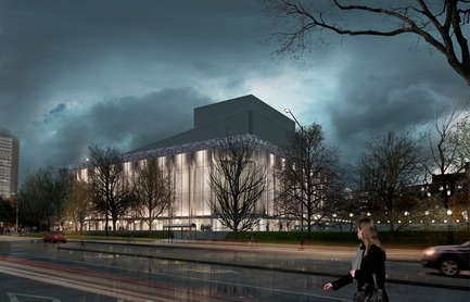 Press kit | 865-24 - Press release | Preserving Heritage: Grand Théâtre de Québec to Don Glass Casing by Lemay and Atelier 21 - Consortium Lemay and Atelier 21 - Institutional Architecture - View from René Lévesque Blvd. - Photo credit:  Lemay and Atelier 21
