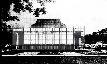 Press kit | 865-24 - Press release | Preserving Heritage: Grand Théâtre de Québec to Don Glass Casing by Lemay and Atelier 21 - Consortium Lemay and Atelier 21 - Institutional Architecture - Concept sketch of main façade - Photo credit:  Lemay and Atelier 21