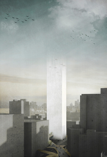 Press kit | 1127-13 - Press release | Winners 2017 eVolo Skyscraper Competition - eVolo Magazine - Competition - In Two Minds: Magnetic Cemetery - honorable mention - Photo credit: Marine Joli, Judith Haggiag