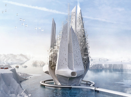 Press kit | 1127-13 - Press release | Winners 2017 eVolo Skyscraper Competition - eVolo Magazine - Competition - Heal-Berg: Reverse Climate Changing Machine - honorable mention - Photo credit: Luca Beltrame, Saba Nabavi Tafreshi