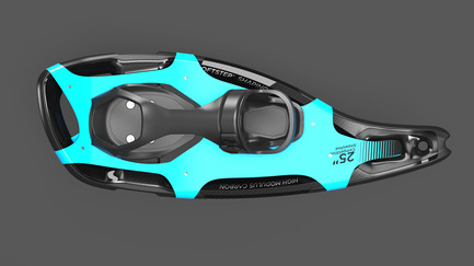 Press kit | 2540-01 - Press release | Bobcat Carbon Fiber Snowshoes - Benjamin Miller - Industrial Design - Top View - Photo credit: Ben Miller