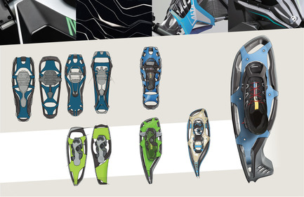 Press kit | 2540-01 - Press release | Bobcat Carbon Fiber Snowshoes - Benjamin Miller - Industrial Design - Sketch Development - Photo credit: Ben Miller