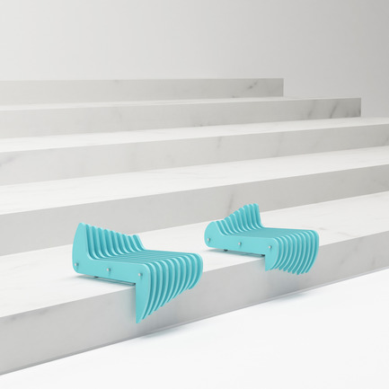 Press kit | 2409-01 - Press release | Waves - Tulin + Ayse / Studio-34 - Product - Waves Stair Seating - Photo credit: Ayse Teke Mingu Tulin Atamer Karaagac