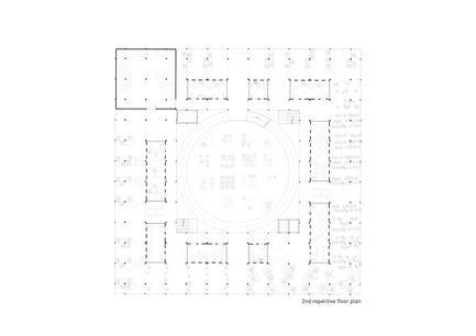 Press kit | 2567-01 - Press release | Mashambas Skyscraper - Ggrupa - Competition - 2nd repetitive floor plan - Photo credit: ggrupa