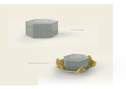 Press kit | 2472-01 - Press release | Award Winning Product Package Design: Butter gram - Axiom Consulting - Product - Origami based Design<br> - Photo credit: Team Axiom<br>