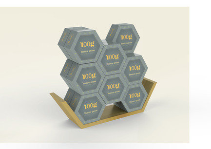 Press kit | 2472-01 - Press release | Award Winning Product Package Design: Butter gram - Axiom Consulting - Product - Hexagonal Tessellation - Photo credit: Team Axiom