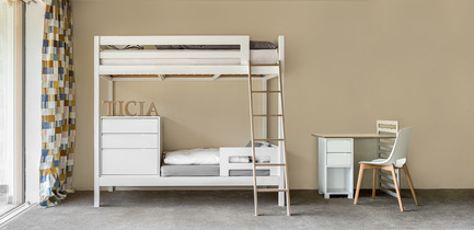 Press kit | 2473-01 - Press release | TICIA The Growing Bed - Complojer for kids - Product -  Ticia for two - 2. step - children bed  and bunk bed perfect solution for small rooms  - Photo credit: complojerforkids