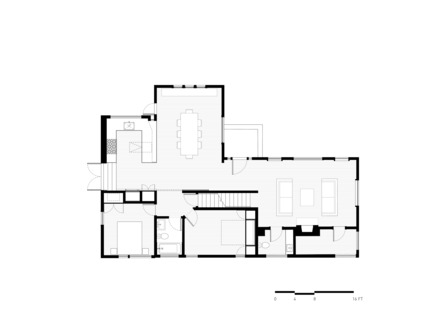 Press kit | 2601-01 - Press release | A-to-Z House - SAW // Spiegel Aihara Workshop - Residential Architecture - 1st Floor Plan - Photo credit: SAW