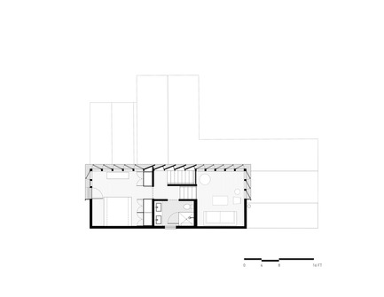 Press kit | 2601-01 - Press release | A-to-Z House - SAW // Spiegel Aihara Workshop - Residential Architecture - 2nd Floor Plan - Photo credit: SAW