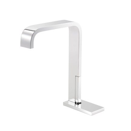 Press kit | 2505-01 - Press release | Innovative Belgian Faucet Design - Co.Studio - Product - Bathroom faucet in chrome<br> - Photo credit: Bernard Gauthier<br>