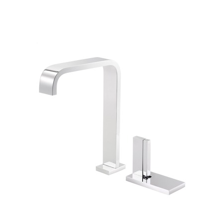 Press kit | 2505-01 - Press release | Innovative Belgian Faucet Design - Co.Studio - Product - Kitchen faucet in chrome<br> - Photo credit: Bernard Gauthier<br>