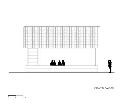 Press kit | 2560-01 - Press release | 'Microlibrary Bima': 2000-Ice-Cream-Bucket-Project - SHAU - Institutional Architecture - Front elevation of Microlibrary Bima - Photo credit: SHAU