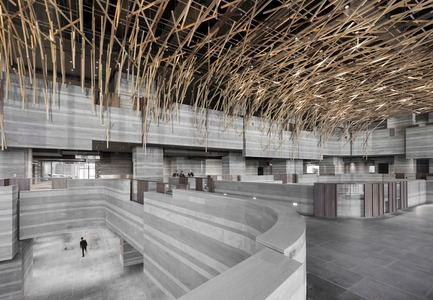 Press kit | 1279-01 - Press release | The HUB Performance and Exhibition Center - Neri&Hu Design and Research Office - Commercial Architecture -  Exhibition Hall (The Forest)  - Photo credit: Dirk Weiblen