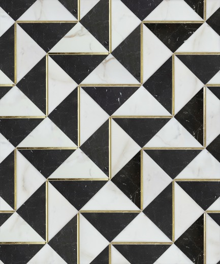 Press kit | 1650-02 - Press release | Launch of the Dominion Quick-Ship   Collection by Mosaïque Surface - Mosaïque Surface - Residential Interior Design - LUDLOW BLACK, DOMINION QUICK-SHIP COLLECTION - Photo credit: Mosaïque Surface