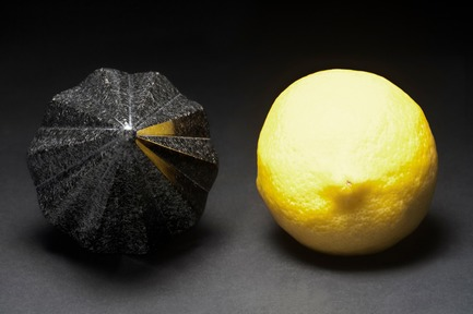 "Press kit | 990-05 - Press release | Out with Marble: KAYIWA Proves That Granite Has Always Been ""In"" - KAYIWA - Product - SM+ Citrus Reamer - PG-Black  - Photo credit: KAYIWA"