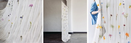 Press kit | 2757-02 - Press release | UMÉ Studio Launches Debut Collection of Objects for Everyday Living - UMÉ Studio - Product - Draped Flower Curtain  - Photo credit: UMÉ Studio