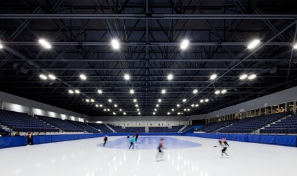 "Press kit | 865-28 - Press release | A ""Must-see"" Sports Arena: Design of Place Bell to Redefine Stadium Experience - Lemay - Commercial Architecture -  2,500-seat Olympic speed and figure-skating arena. - Photo credit: Adrien Williams"