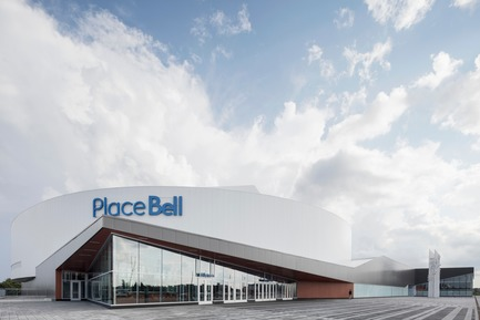 "Press kit | 865-28 - Press release | A ""Must-see"" Sports Arena: Design of Place Bell to Redefine Stadium Experience - Lemay - Commercial Architecture - Amphitheatre entrance - Photo credit: Adrien Williams"