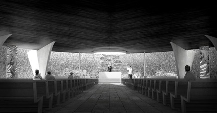 Press kit | 3036-01 - Press release | Our Lady of The Fields - Stanislas Chaillou - Institutional Architecture - View on the Main Altar - Photo credit: Stanislas Chaillou