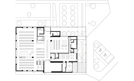 Press kit | 1070-01 - Press release | The Mississauga Public Library Project - RDH Architects - Institutional Architecture - Building Floor Plan of Lorne Park Library - Photo credit: RDH