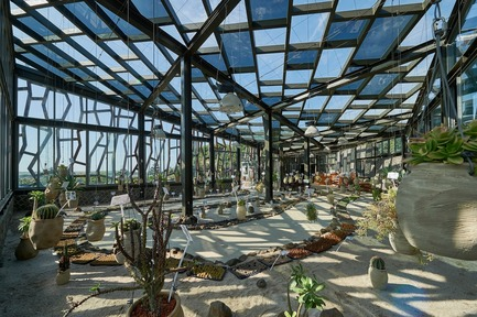 Press kit | 3092-01 - Press release | Cactus Park in Taiwan Draws Architectural Inspiration from Prickly Succulents - CCL Architects & Planners - Landscape Architecture - Big cactus greenhouse interior - Photo credit: CCL Architects & Planners