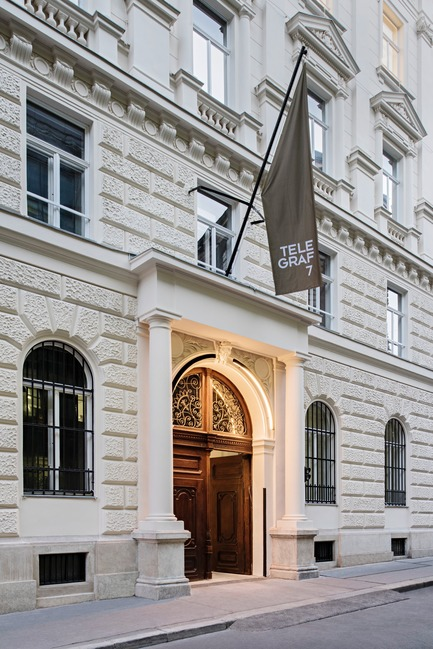 Press kit | 2274-02 - Press release | Telegraf 7 - BEHF Architects - Commercial Architecture - Entrance<br>Lehargasse 7    - Photo credit:  Hertha Hurnaus