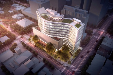 Press kit | 1204-05 - Press release | SXSW Headquarters Breaks Ground - Pei Cobb Freed & Partners - Commercial Architecture - Photo credit:  CZ Properties