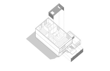 Press kit | 3057-01 - Press release | Flipped House - Atelier RZLBD - Residential Architecture - Axonometric Diagram - Photo credit: rzlbd