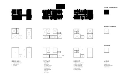 Press kit | 3057-01 - Press release | Flipped House - Atelier RZLBD - Residential Architecture - Program - Photo credit: rzlbd
