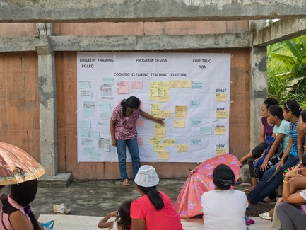 Press kit | 3162-01 - Press release | Streetlight Tagpuro - Eriksson Furunes Architecture, Leandro V. Locsin Partners & Boase - Institutional Architecture - To decide on the programme of the study center, the community organized themselves to identify and prioritize their needs, ambitions and resources. - Photo credit: Alexander Eriksson Furunes