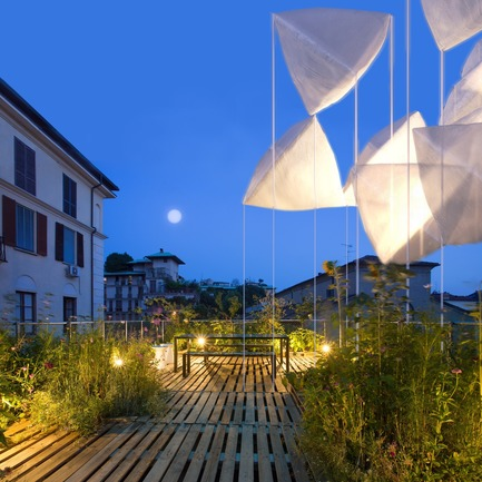 Press kit | 3145-01 - Press release | agrAir installation at Milan Design Week 2018 - Piuarch - Event + Exhibition - agrAir project on the rooftop garden of Piuarch's office in Milan<br> - Photo credit: Piuarch