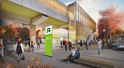 Dossier de presse | 865-32 - Communiqué de presse | Powerful and Eloquent, REM Architectural and Landscape Concept to Transform Greater Montreal Cityscape - Lemay - Urban Design -   REM - Kirkland Station   - Crédit photo : Réseau express métropolitain (REM)
